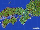 2015年07月30日の近畿地方のアメダス(日照時間)