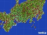 2015年07月30日の東海地方のアメダス(気温)