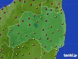 福島県のアメダス実況(気温)(2015年07月30日)