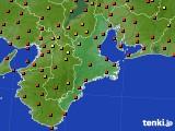 2015年07月30日の三重県のアメダス(気温)