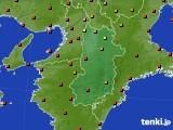 奈良県のアメダス実況(気温)(2015年07月30日)