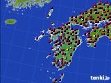 九州地方のアメダス実況(日照時間)(2015年07月31日)