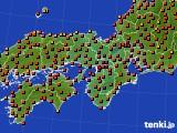 2015年07月31日の近畿地方のアメダス(気温)