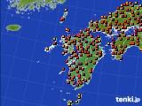 九州地方のアメダス実況(気温)(2015年07月31日)