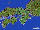 2015年08月01日の近畿地方のアメダス(日照時間)