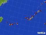 2015年08月01日の沖縄地方のアメダス(気温)