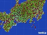 2015年08月01日の東海地方のアメダス(気温)
