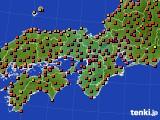 2015年08月01日の近畿地方のアメダス(気温)