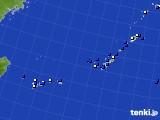沖縄地方のアメダス実況(風向・風速)(2015年08月05日)