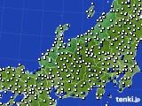 2015年08月05日の北陸地方のアメダス(風向・風速)