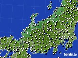 2015年08月06日の北陸地方のアメダス(風向・風速)