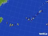 沖縄地方のアメダス実況(風向・風速)(2015年08月08日)
