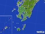 鹿児島県のアメダス実況(風向・風速)(2015年08月08日)