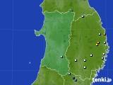 2015年08月11日の秋田県のアメダス(降水量)