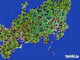 関東・甲信地方のアメダス実況(日照時間)(2015年08月11日)