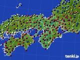 近畿地方のアメダス実況(日照時間)(2015年08月11日)