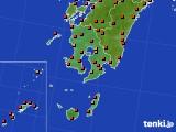 鹿児島県のアメダス実況(気温)(2015年08月11日)
