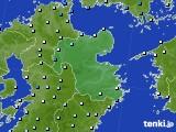 2015年08月12日の大分県のアメダス(降水量)