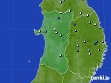2015年08月12日の秋田県のアメダス(降水量)