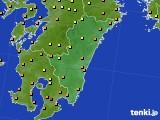 2015年08月12日の宮崎県のアメダス(気温)