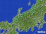 2015年08月12日の北陸地方のアメダス(風向・風速)