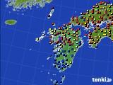 九州地方のアメダス実況(日照時間)(2015年08月14日)