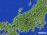 2015年08月14日の北陸地方のアメダス(風向・風速)
