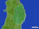 2015年08月15日の岩手県のアメダス(降水量)