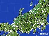 2015年08月16日の北陸地方のアメダス(風向・風速)