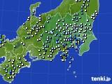2015年08月17日の関東・甲信地方のアメダス(降水量)