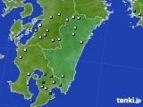 2015年08月18日の宮崎県のアメダス(降水量)