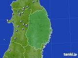 2015年08月18日の岩手県のアメダス(降水量)