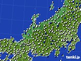 2015年08月18日の北陸地方のアメダス(風向・風速)