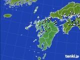 2015年08月19日の九州地方のアメダス(降水量)