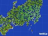 関東・甲信地方のアメダス実況(日照時間)(2015年08月20日)