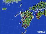 九州地方のアメダス実況(日照時間)(2015年08月20日)
