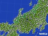 2015年08月21日の北陸地方のアメダス(風向・風速)