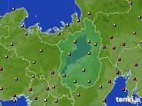 2015年08月22日の滋賀県のアメダス(気温)