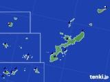 沖縄県のアメダス実況(日照時間)(2015年08月23日)