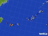 沖縄地方のアメダス実況(風向・風速)(2015年08月23日)
