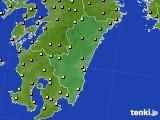2015年08月24日の宮崎県のアメダス(気温)