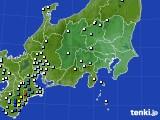 2015年08月25日の関東・甲信地方のアメダス(降水量)