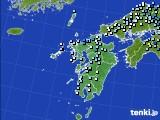 2015年08月25日の九州地方のアメダス(降水量)
