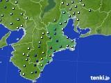 2015年08月25日の三重県のアメダス(降水量)