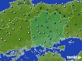 2015年08月25日の岡山県のアメダス(降水量)