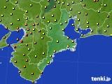 2015年08月25日の三重県のアメダス(気温)