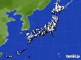 アメダス実況(風向・風速)(2015年08月25日)