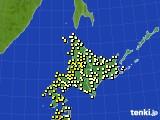 北海道地方のアメダス実況(気温)(2015年08月28日)