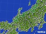 北陸地方のアメダス実況(風向・風速)(2015年08月28日)