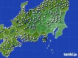 2015年08月30日の関東・甲信地方のアメダス(降水量)